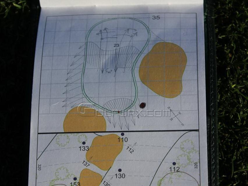 Kevin streelmans yardage book from the masters golfwrx solutioingenieria Gallery