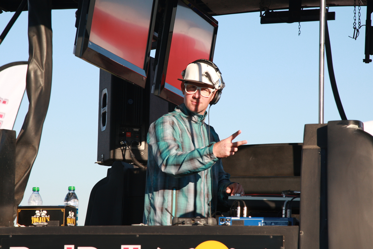 12a – The DJ rocking the Cobra Puma Golf booth at 2013 PGA Golf Show Demo Day at Orange County national