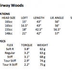 G25 fairway wood specs