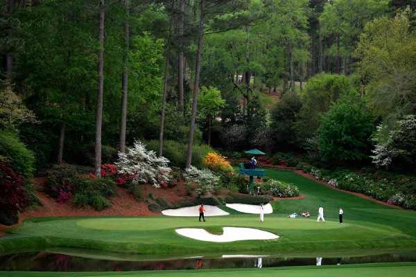 No. 12 green at Augusta National
