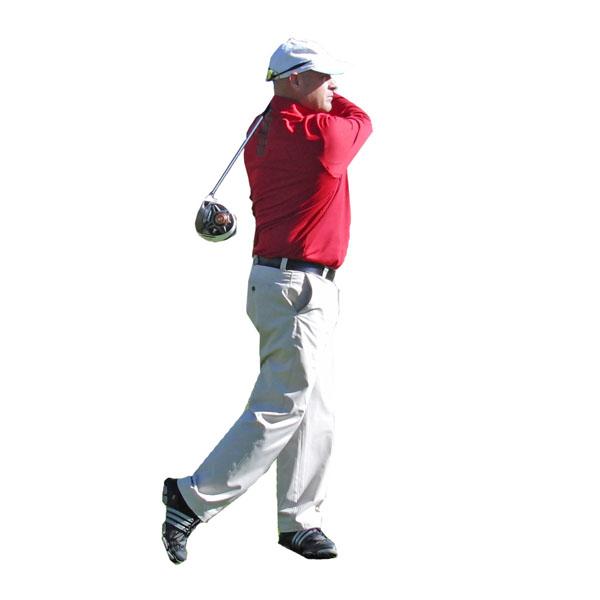 Golf Swing Follow Through Front View