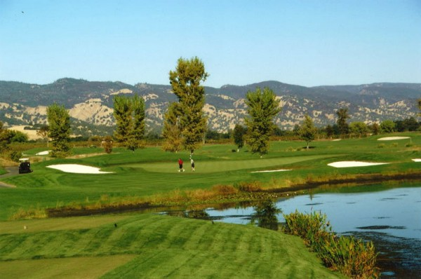 You better take enough club at No. 4 at Yocha DeHe, which plays 199 yards over water from the tips.