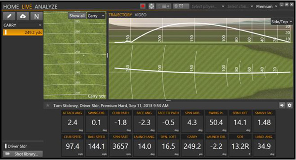 Trackman Screen Shot