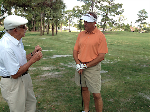 Ken Duke and his coach Bob Toski.