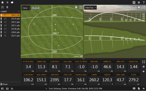 metalwood trackman screen 2