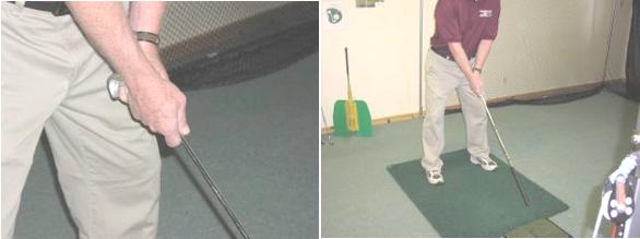 Setup for swoosh golf drill