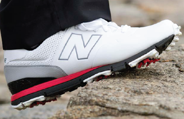 new balance men's leather and spikeless golf shoes