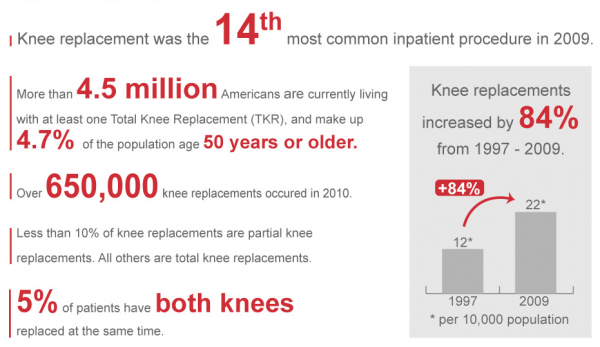 knee replacement big numbers