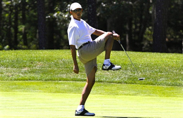 Image result for barack played endless rounds of golf