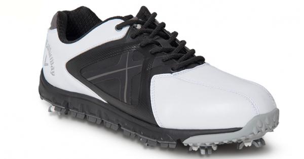 Shoes Outlet - Callaway Xfer Sport Mens Golf Shoe - 10 Medium White/Blue White/Blue