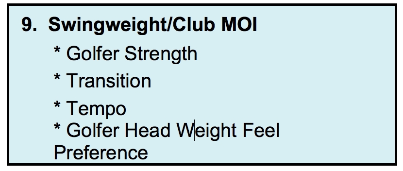 Wishon What Swing Weight Should Your Clubs Be Golfwrx