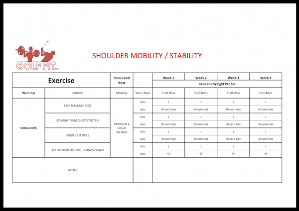 Shoulder Mobility and Stability