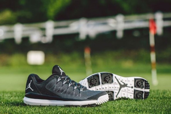 6d62fa83753 Jordan s Flight Runner Golf shoes will be available in both black and grey  colorways this month on Nike s website.