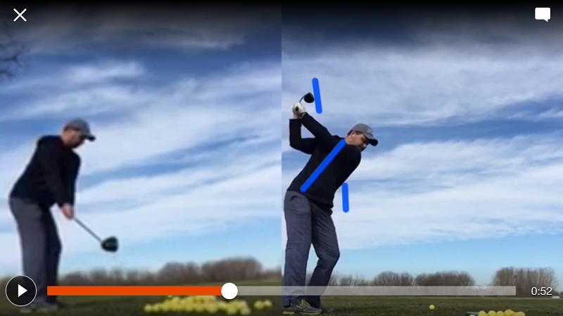 With the use of video analysis software, students can post their golf swings where I can then take them, analyze them and post a response.  In this video, the student is located across the country and is receiving help with their driver.