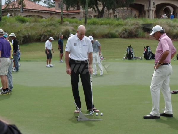 Jim Furyk, a known perfectionist, uses the Perfect Putter -- in his flip-flops.