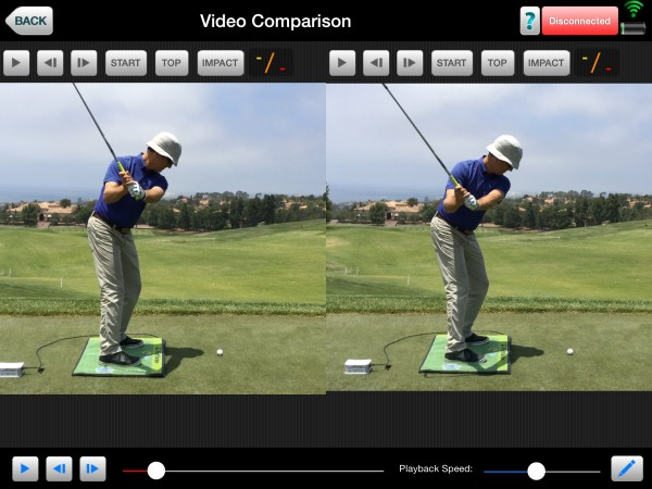 The bigger turn of the CFG Athlete results with visually seeing more of the Left Leg and a Deeper Arm Swing.