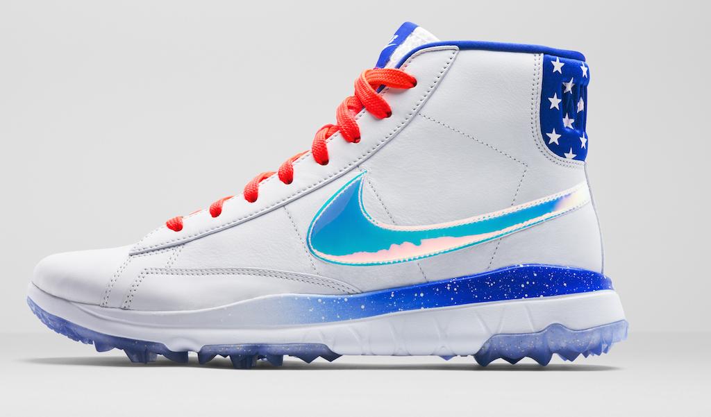 "buy popular 2fa8e ce6ac Michelle Wie s patriotic Nike ""Air Wiezy"" Blazer golf shoes – GolfWRX"