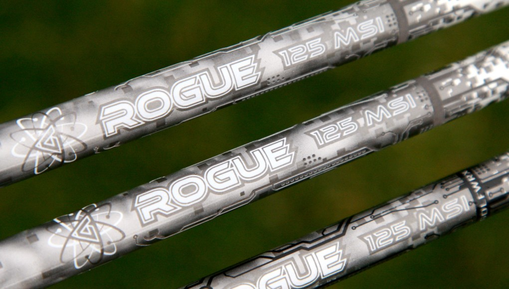 """Aldila's Rogue Limited Edition shafts are made in the U.S., and use a 125 MSI """"Graphitic Carbon"""" construction."""