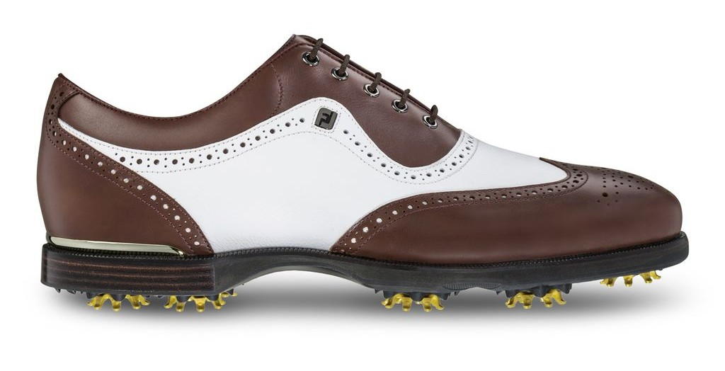 FootJoy's Icon Black (pictured in White/Dark Brown) are worn by Ian Poulter, Billy Horschel, Luke Donald and many other PGA Tour players.