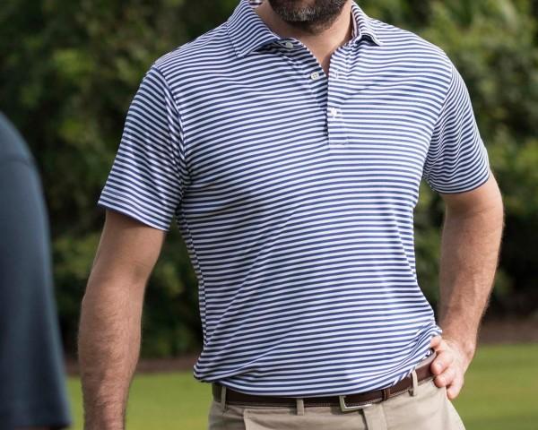 Golf-Polo-Slim-Fit-Blue-White-Stripe