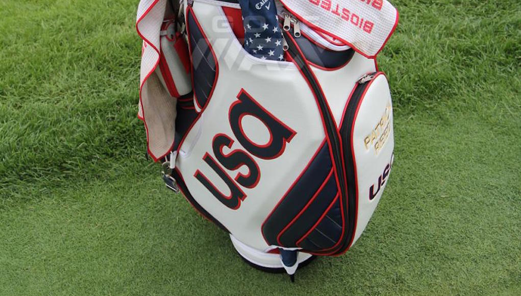 Patrick Reed Shows Off New Team Usa Olympic Golf Bag At The Travelers Golfwrx