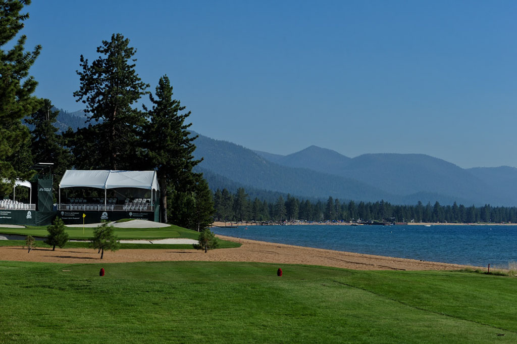 The par-3 17th at Edgewood has been host of many tournament shenanigans.