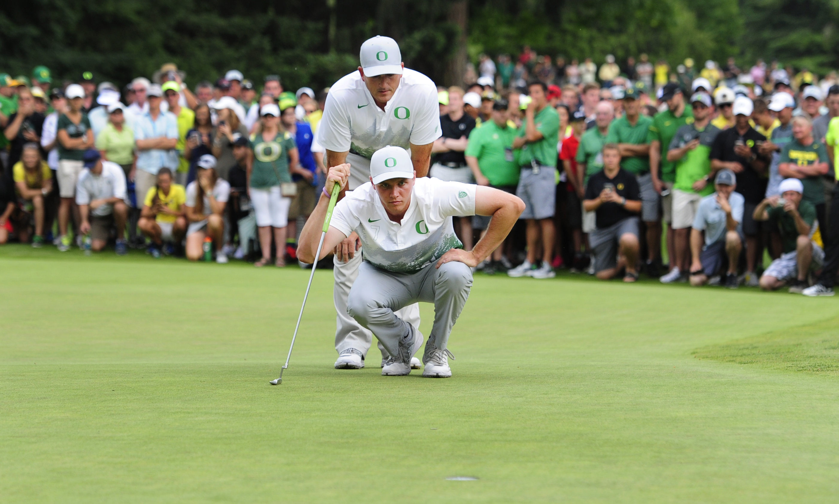 Oregon won the 2016 NCAA Men's golf championship in front of a large hometown crowd
