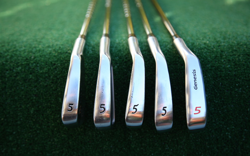 Recent Miura iron releases, compared to the PP-9005 irons (far right)