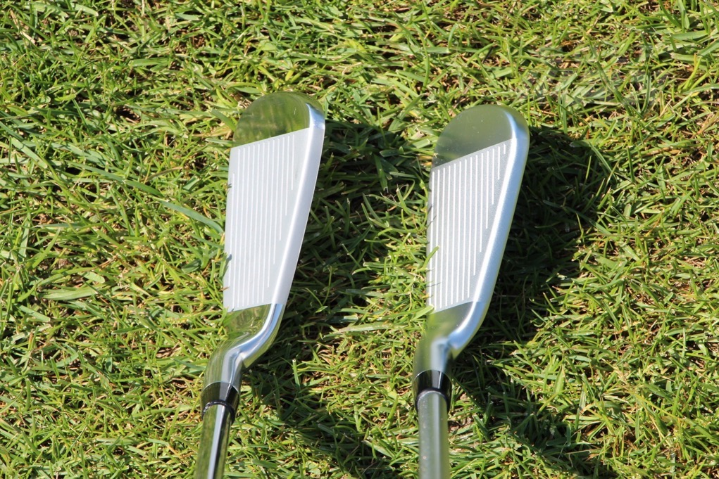 Sterling Irons 7 iron (left) vs. Callaway Apex 7 iron