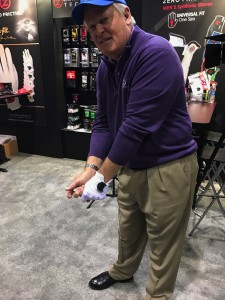 Johnny Miller at the 2017 PGA Show with Zero Friction.
