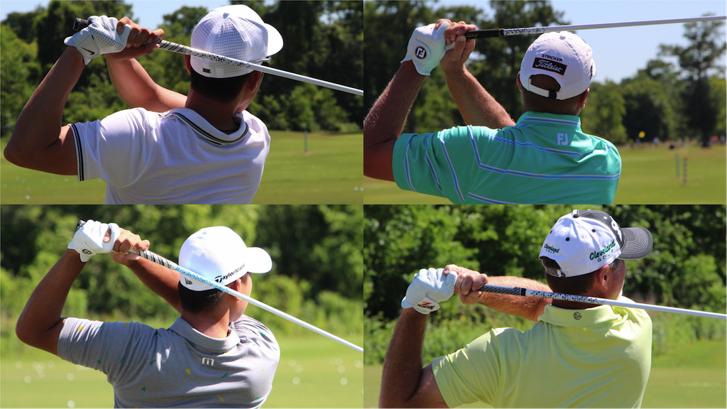 Seung Yul Noh (upper left), Steve Stricker (upper right), Si Woo Kim (lower left) and Jerry Kelly (lower right) eith Fujikura Atmos Tour Spec shafts at the Zurich Classic.