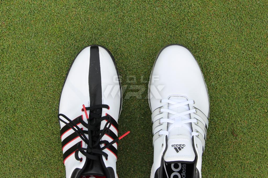 Adidas' Tour360 Boost (left) vs the new Tour360