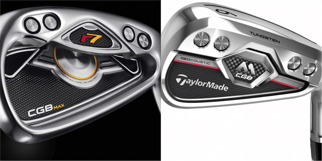 TaylorMade's 2006 r7 CGB (left) vs. its 2017 M CGB