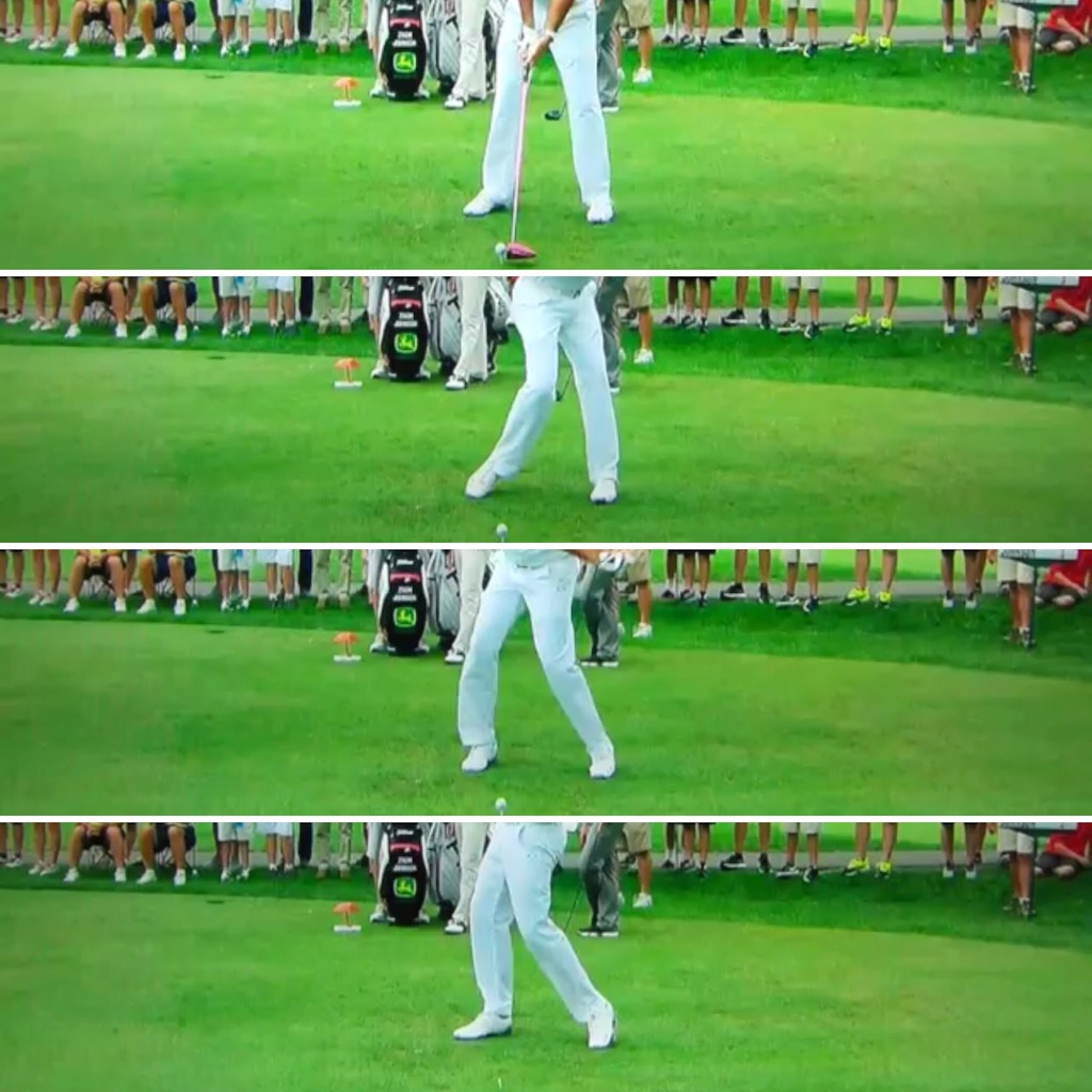 The footwork of Bubba Watson