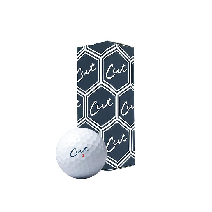 Sleeve of Cut Blue golf balls
