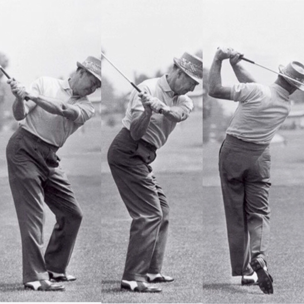 The foot and leg work of Sam Snead
