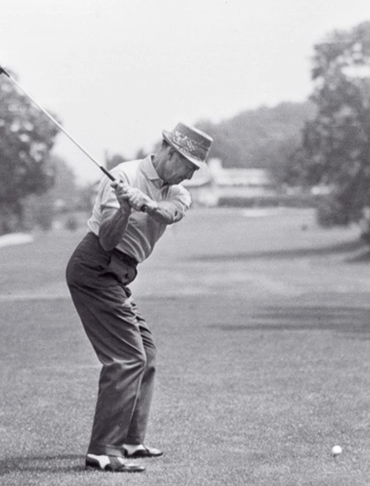Sam Snead in the squat position