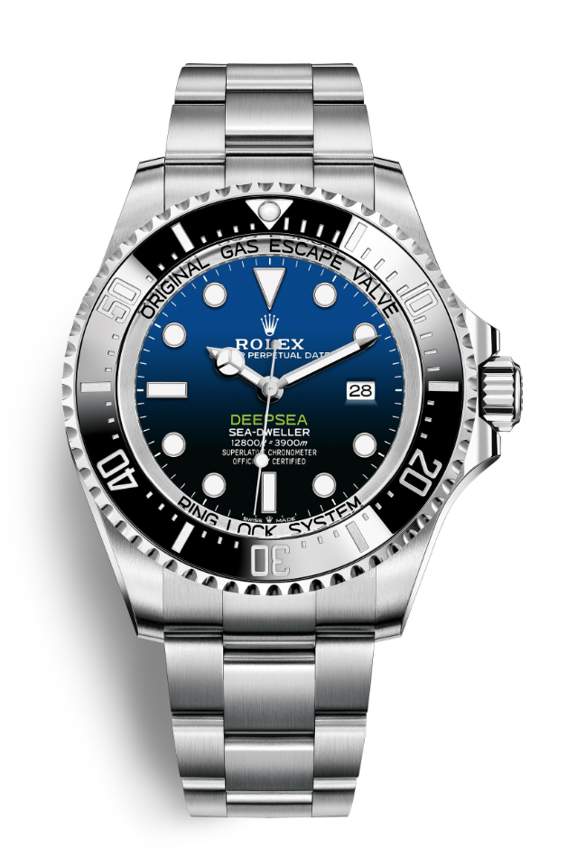rolex sea-dweller deepsea blue tiger woods