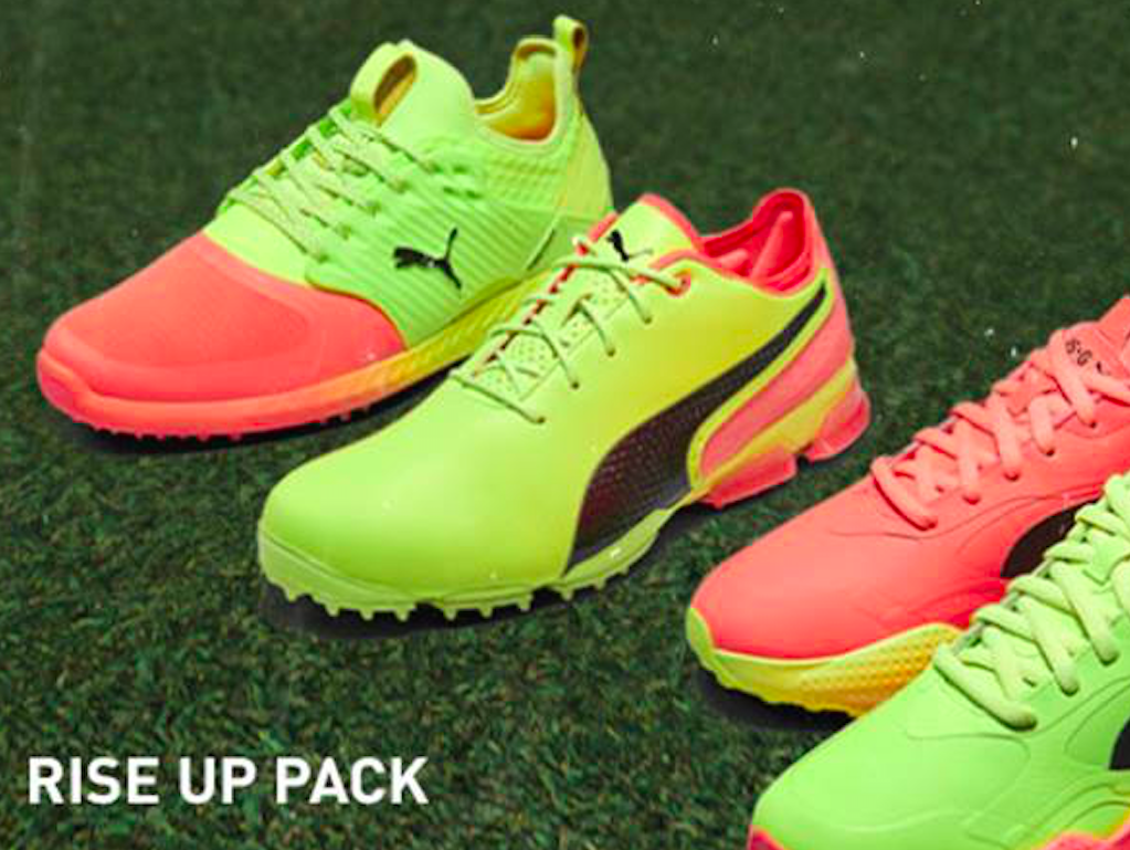 Puma Golf Launches New Rise Up Pack Featuring Three Neon Golf Shoes Golfwrx