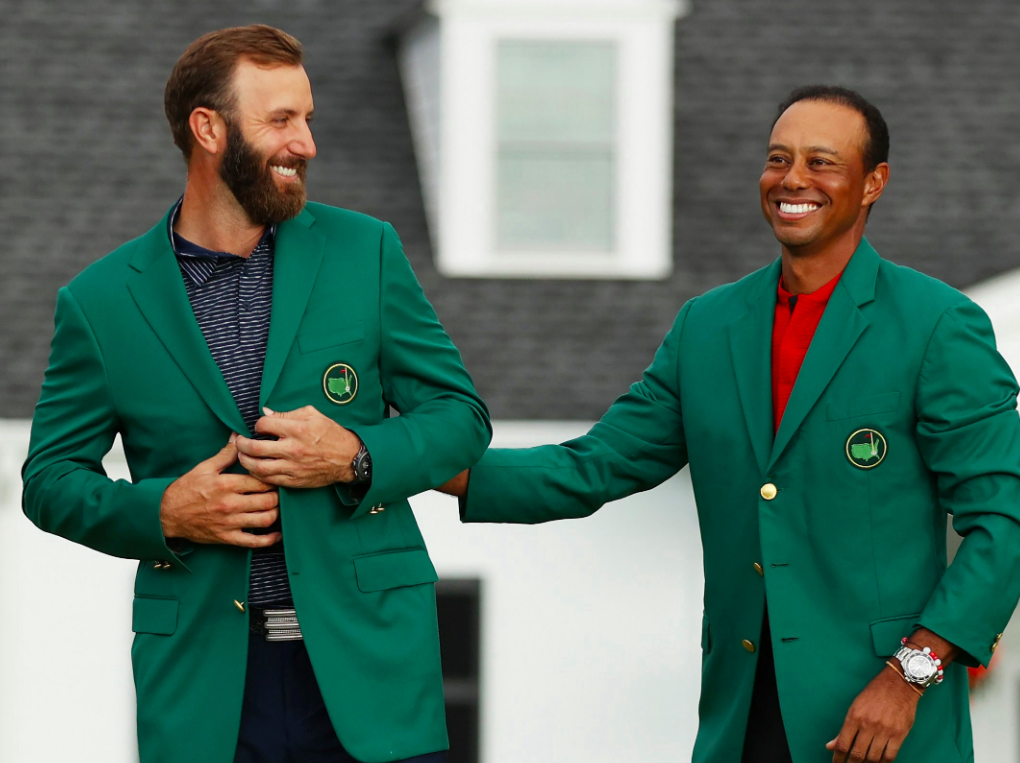 Dustin Johnson, Tiger Woods 2020 Masters