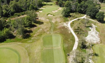 golf course, aerial view, golf